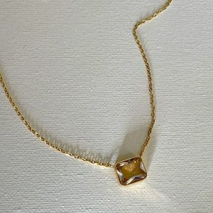 18k gold plated Crystal Stone Necklace